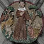 Schlussstein der Barfüßerkirche in Augsburg