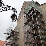 Rothenburger Franziskanerkirche bei der Renovierung