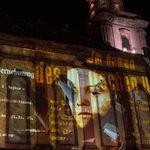 Sophie Scholl_Video-Installation an der Wormser Kirche
