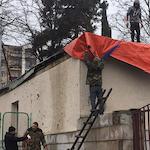 Stepanakert Wiederaufbau der Kirche